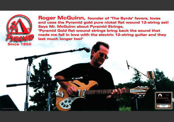 Artikel Roger McGuinn - PYRAMID Gold Pure Nickel Flatwound 12-string set