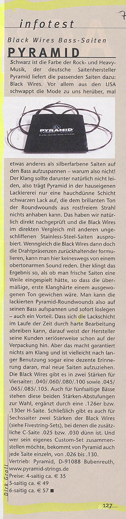 PYRAMID Black Wires, Bass (G&B Infotest 2006)